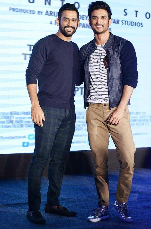 Hansame Mahendra Singh Dhoni With Actor Sushant Singh Rajput