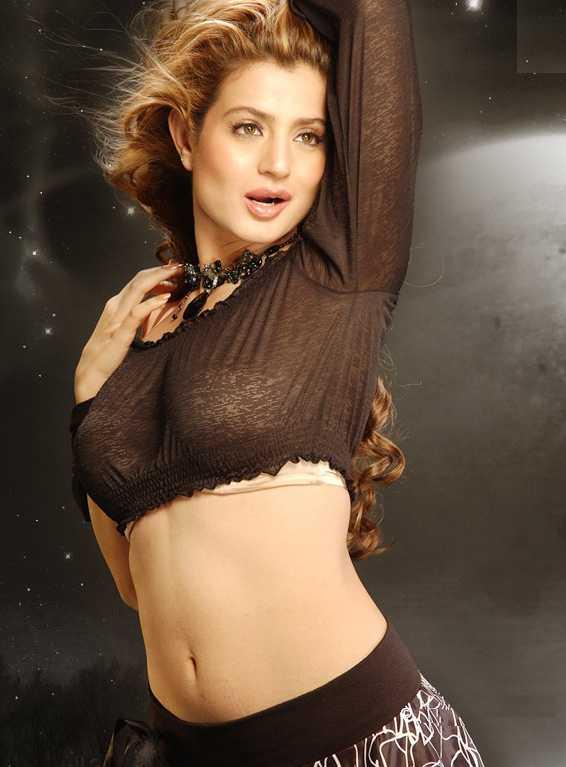 Ameesha Patel Hot Navel Images In Bra Panty