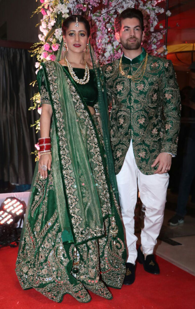 Handsame Neil Nitin Mukesh Images With Cute Wife Rukmini Sahay