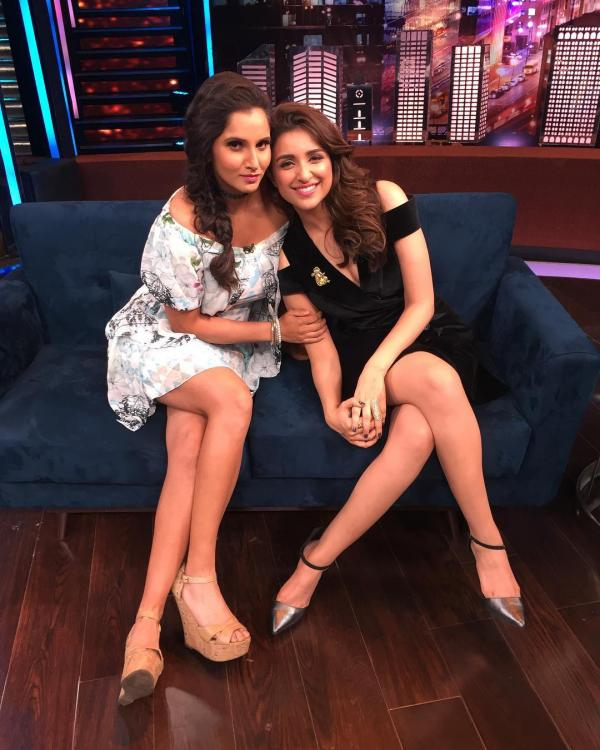 Sania Mirza Hot Images With Parineeti Chopra