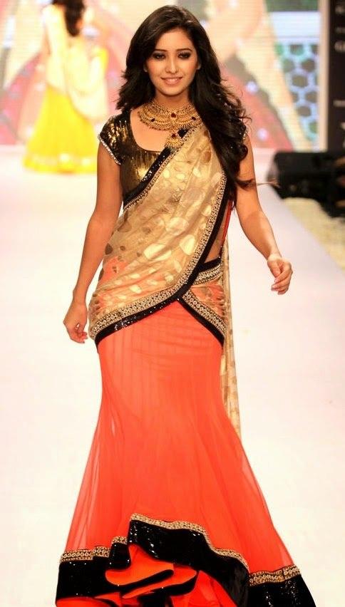 Asha Negi Beautiful Images At Rampwalk In Lehanga Choli