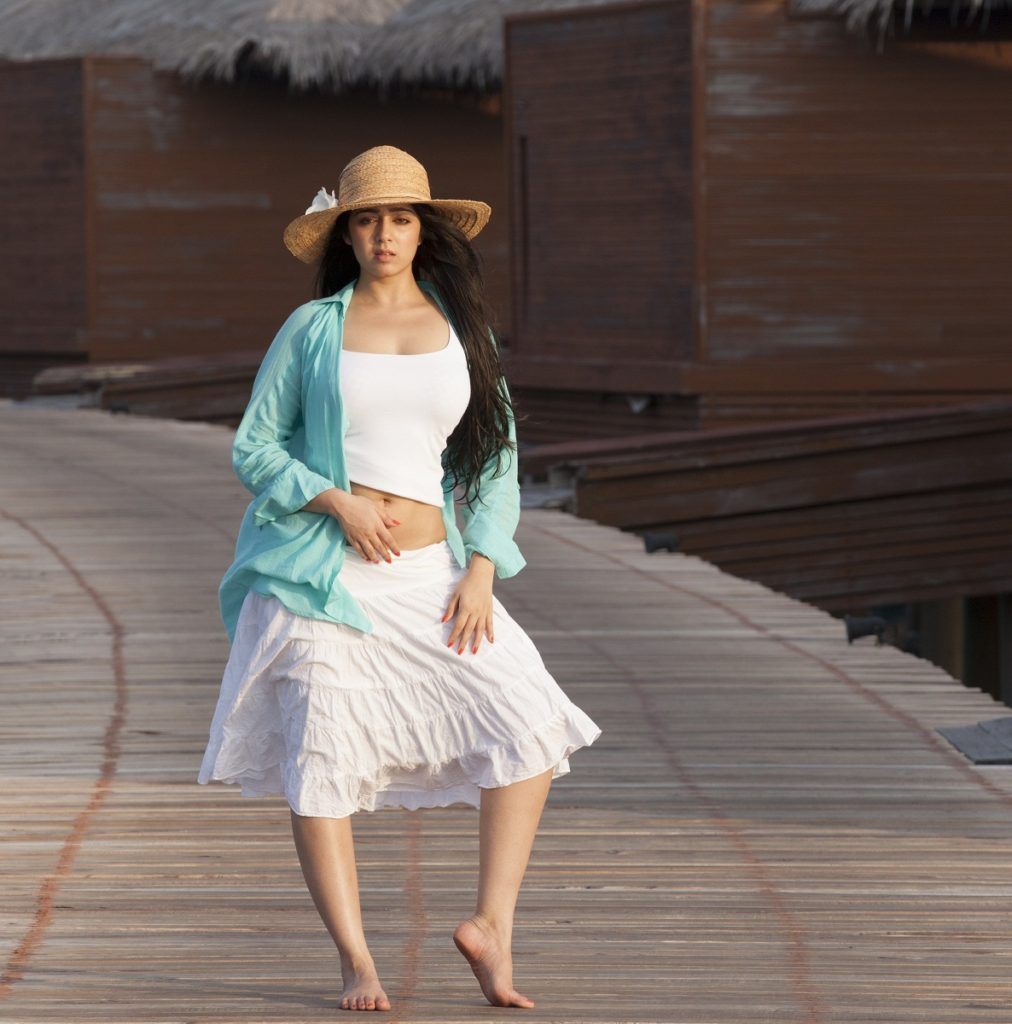 Charmy Kaur Photoshoots With Hat