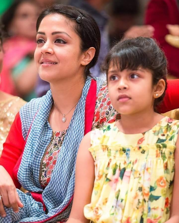 Jyothika Pics At Award Show With Little Girl