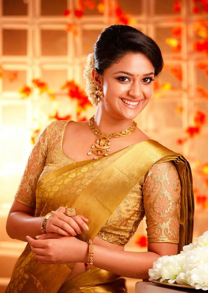 Keerthy Suresh New Look Images In Saree
