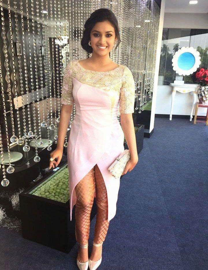 Keerthy Suresh Sexy Legs Images In Short Dress