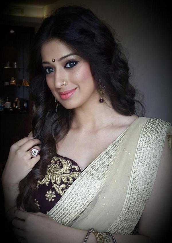 Raai Laxmi Upcoming Movie Look Images In Saree