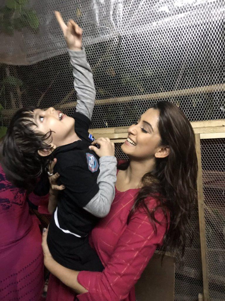 Srishti Jain Photos With Little Boy