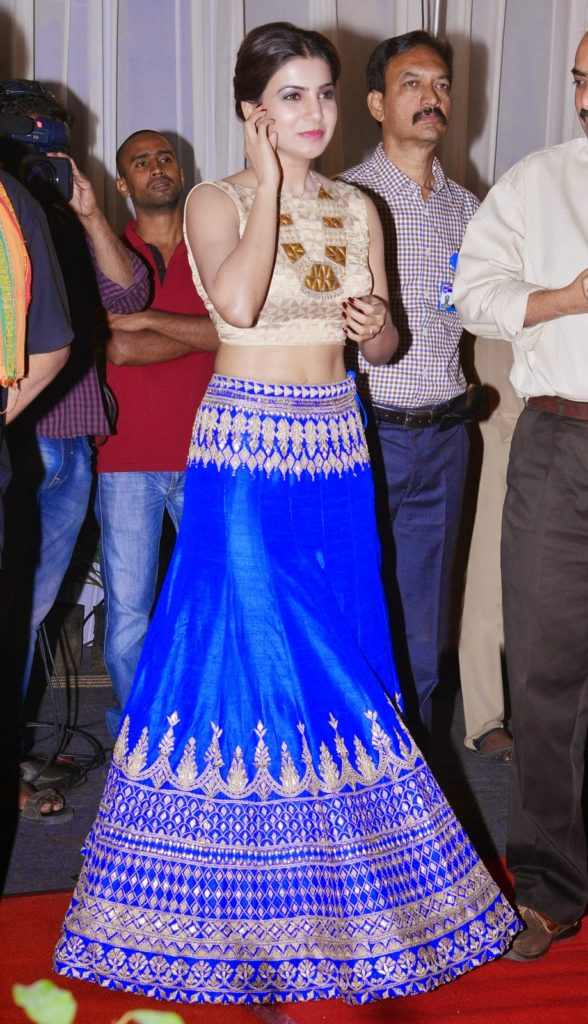 Tollywood Actress Samantha Images In Gagra Choli At Event
