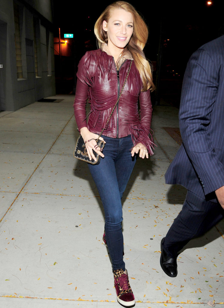 Blake Lively Photos In Jeans Top