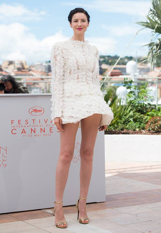 Caitriona Balfe Sexy Legs Images In Short Dress