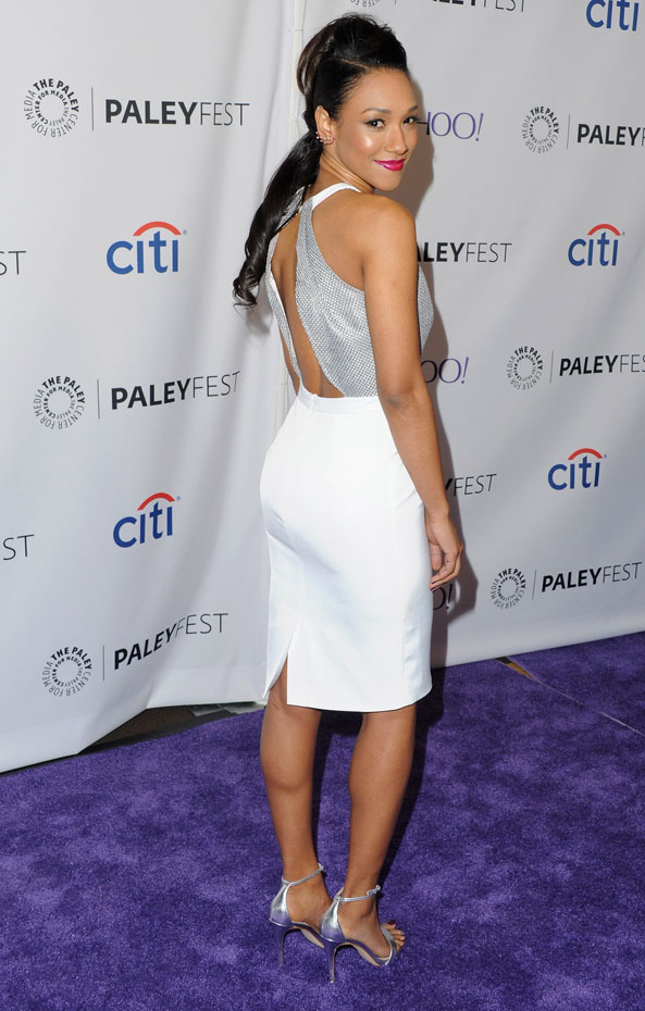 Candice Patton In Sexy Backless Clothes Wallpapers