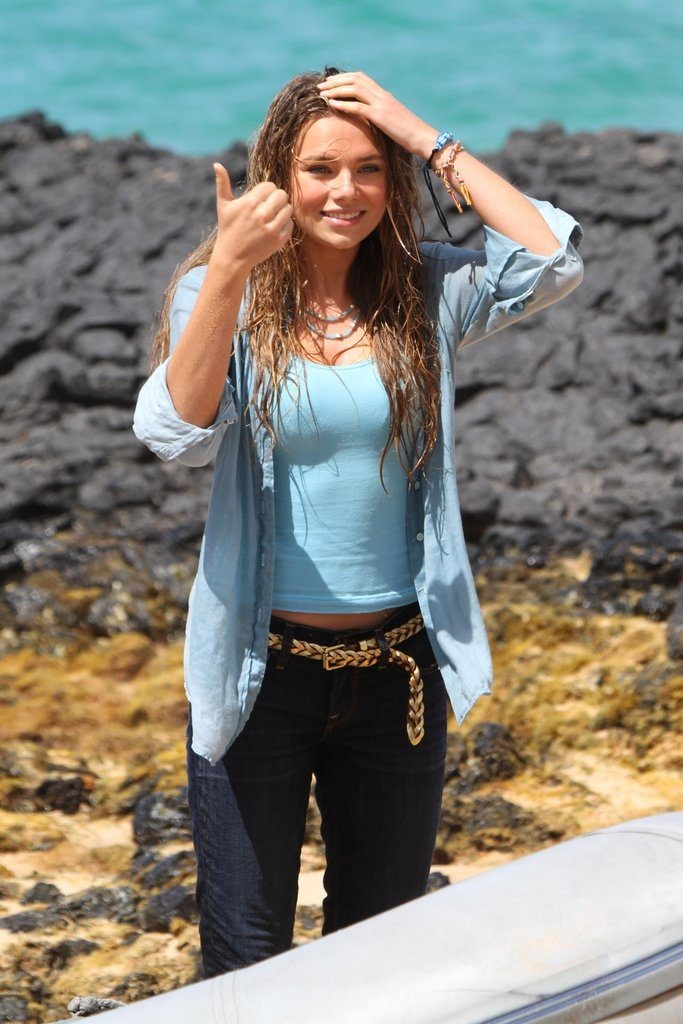 Indiana Evans Images In Jeans Top