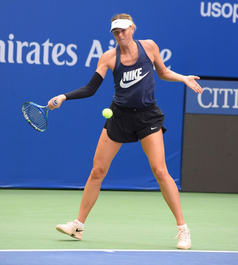 Maria Sharapova Images At Tennis Court