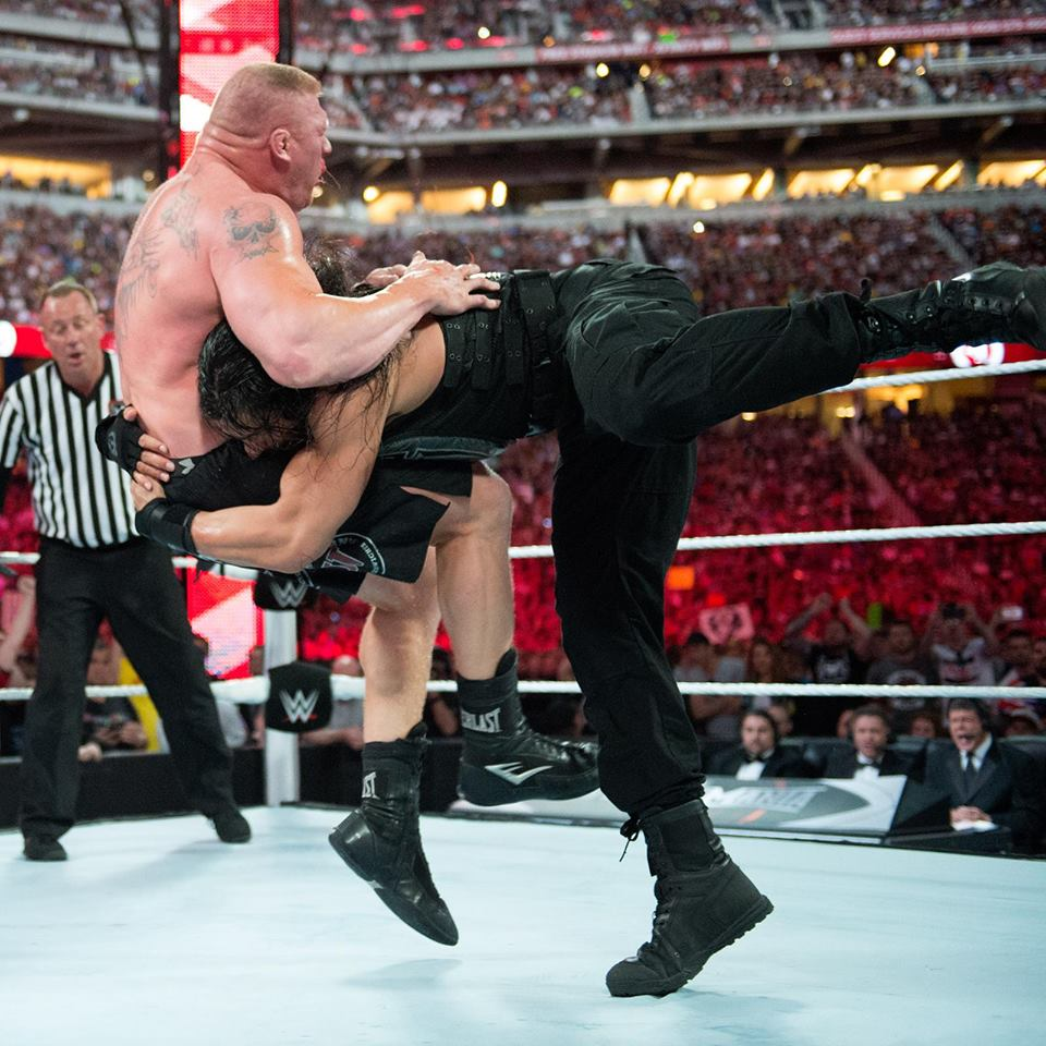 Roman Reigns Fight With Brock Lesnar Full HD Pictures