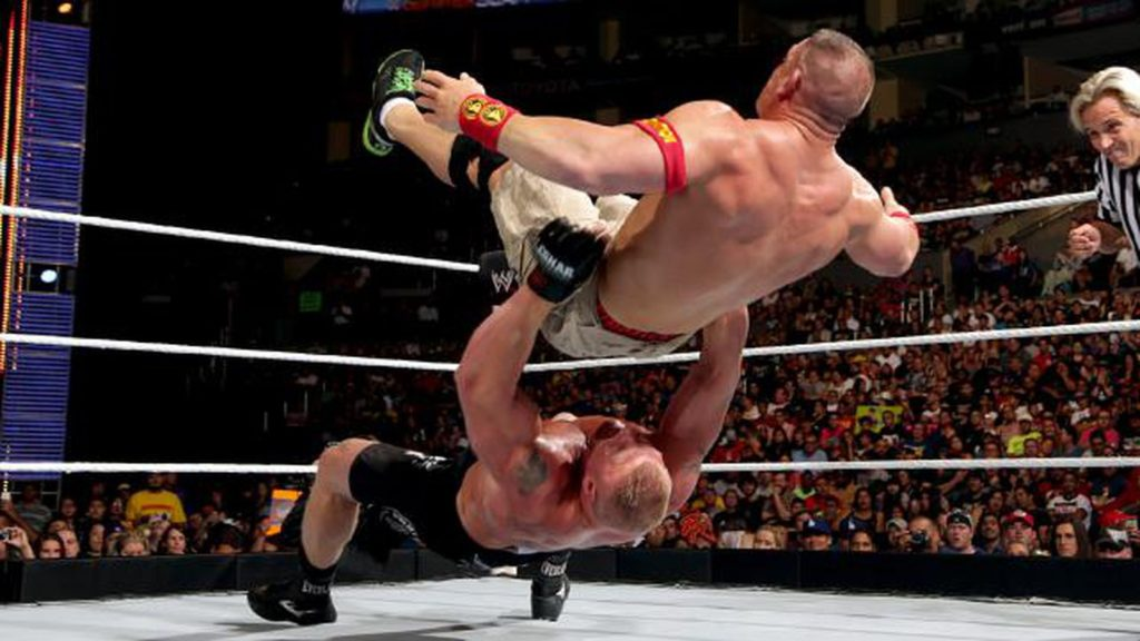 Brock Lesnar Fight Pictues In Ring