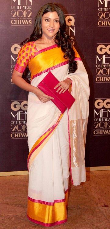 Konkona Sen Sharma Images In White Saree