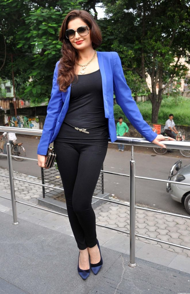 Monica Bedi Pictures In Jeans Top