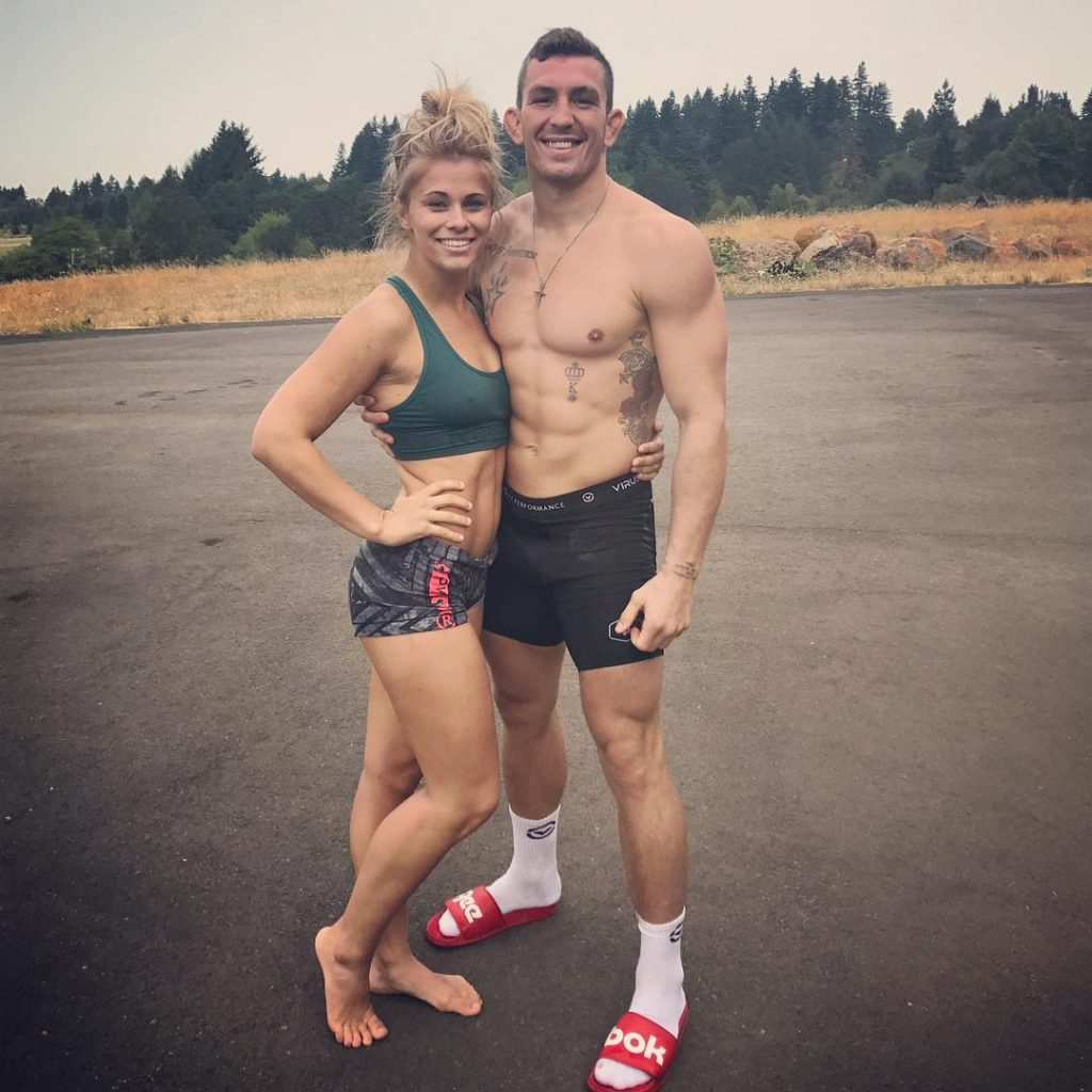 Paige VanZant Hot Navel Images With Boyfriend