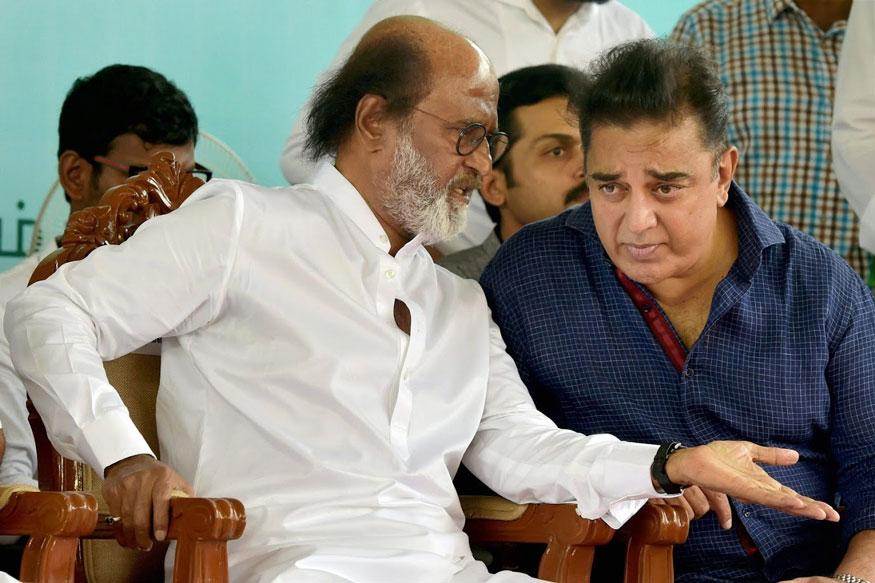 Rajinikanth Images With Kamal Hassan