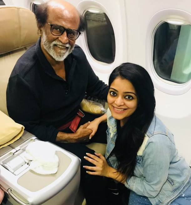 Rajinikanth Pictures With His Daughter