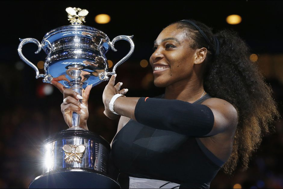 Serena Williams With Cup