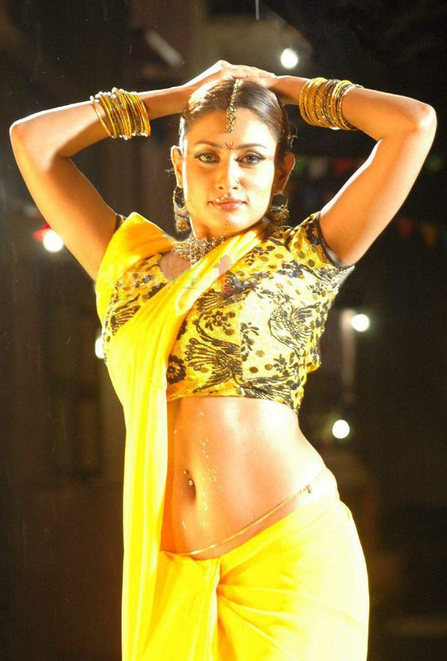 Malavika Spicy Navel Pics In Saree Photoshoot
