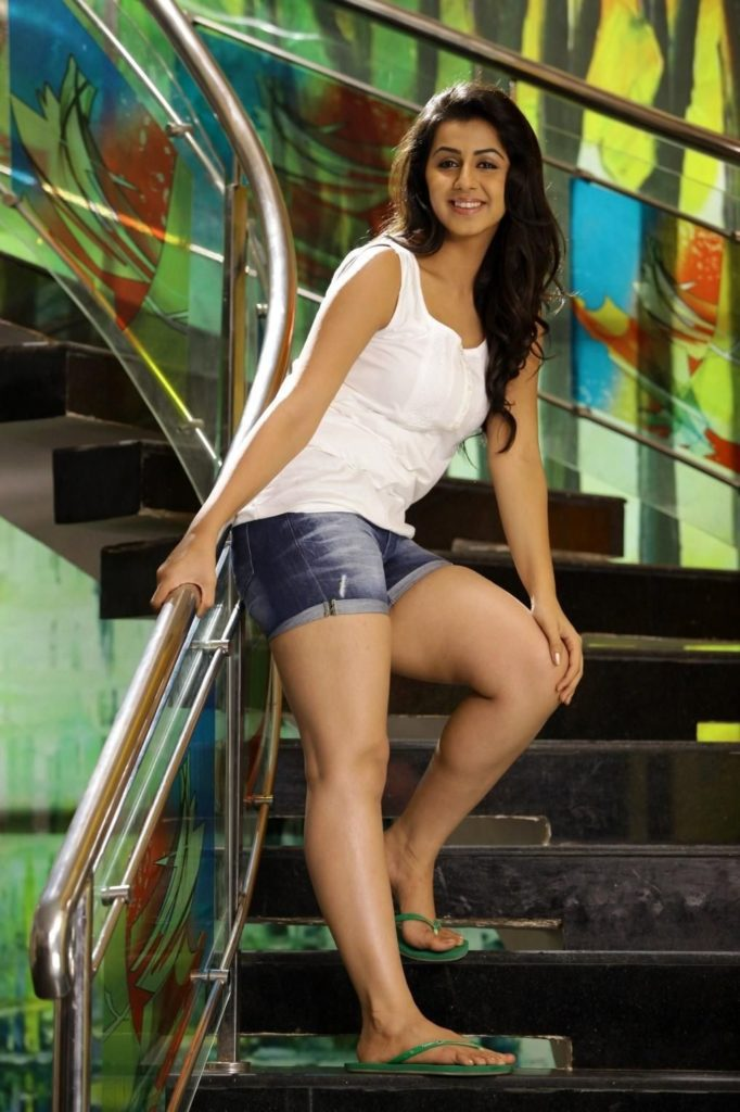 Nikki Galrani Hot Images In Short Clothes