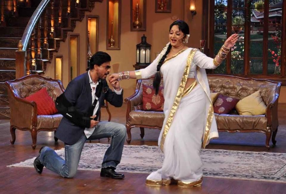 Upasana Singh HD Pics With Shahrukh Khan