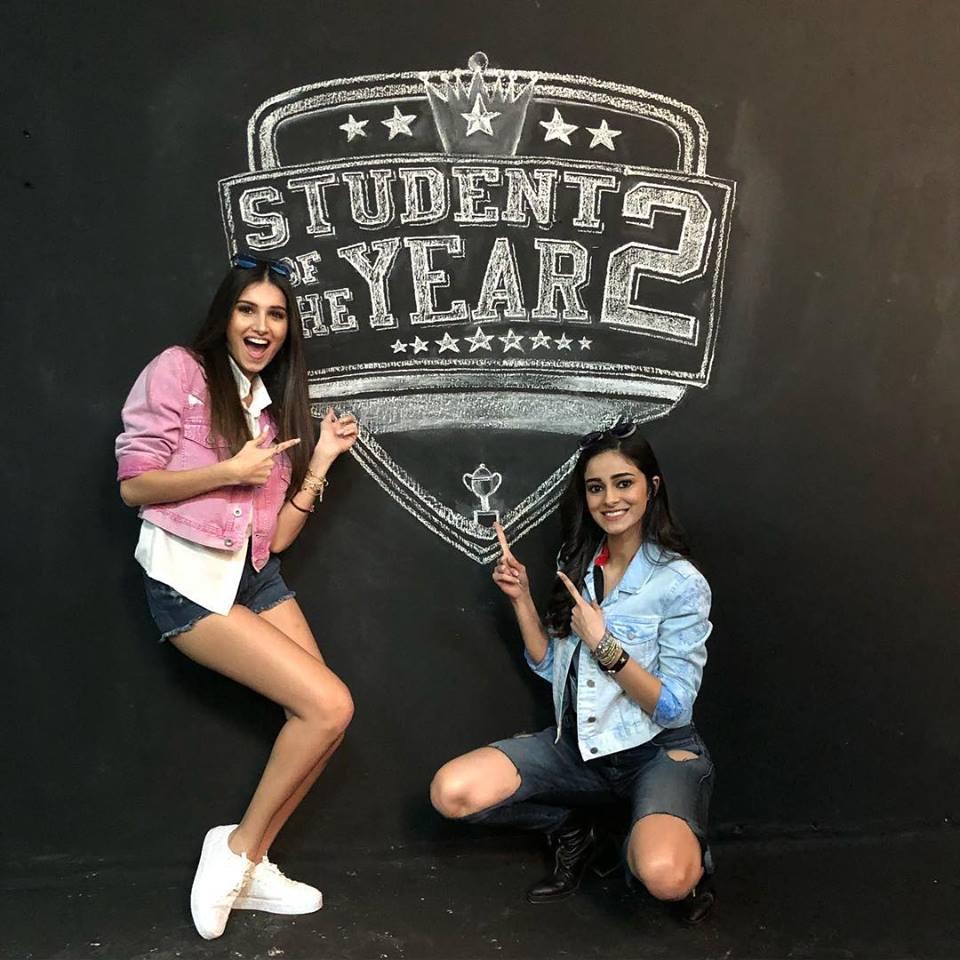Tara Sutaria Hot Images With Ananya Pandy