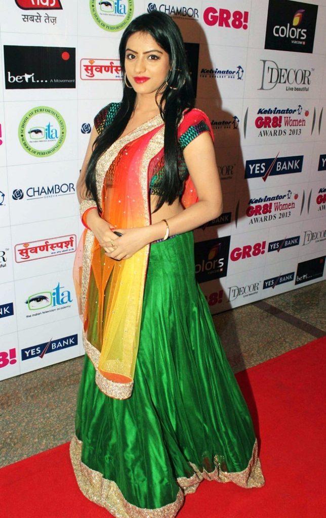 Deepika Singh In Green Color Cloths