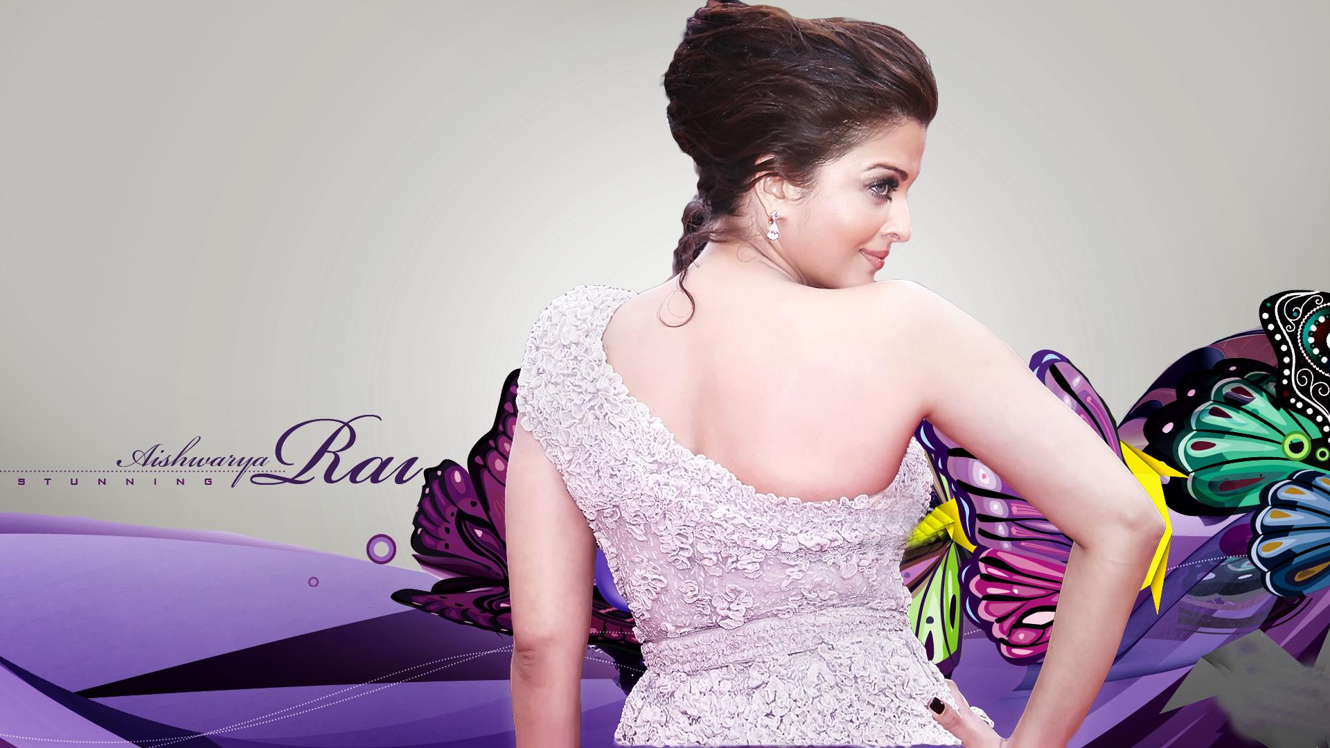 Aishwarya Rai Hot Look In Back Side Pics