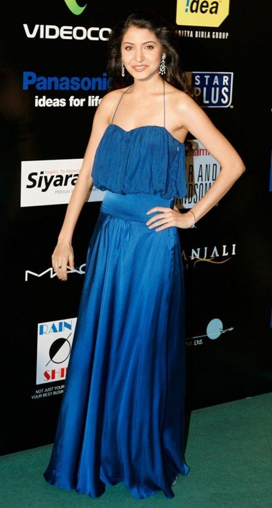 Anushka Sharma In Blue Dress Images