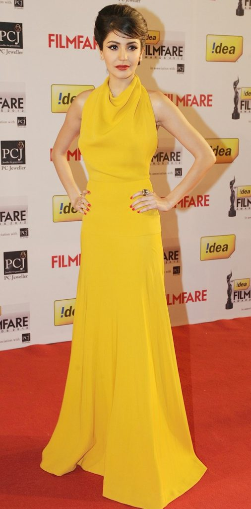 Anushka Sharma In Yellow At Award Show
