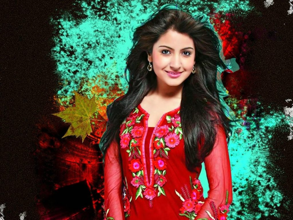 Anushka Sharma Sexy look In Red Color Cloths
