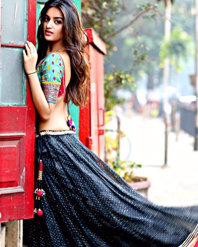 Beautiful Actress Nidhhi Agerwal Pictures In Lehanga Choli