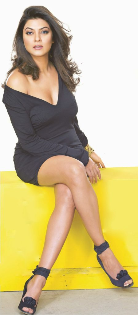 Bollywood Actress  Sushmita Sen  Sexy Boob Legs Beautiful Images In Short Cloths