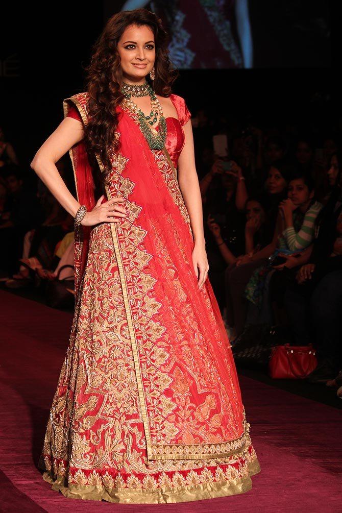 Charming Actress Dia Mirza Latest Photoshoots In Gagra Choli