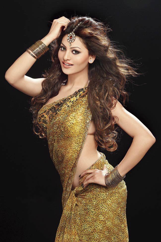 Charming Actress Urvashi Rautela Beautiful & Cute Images In Saree