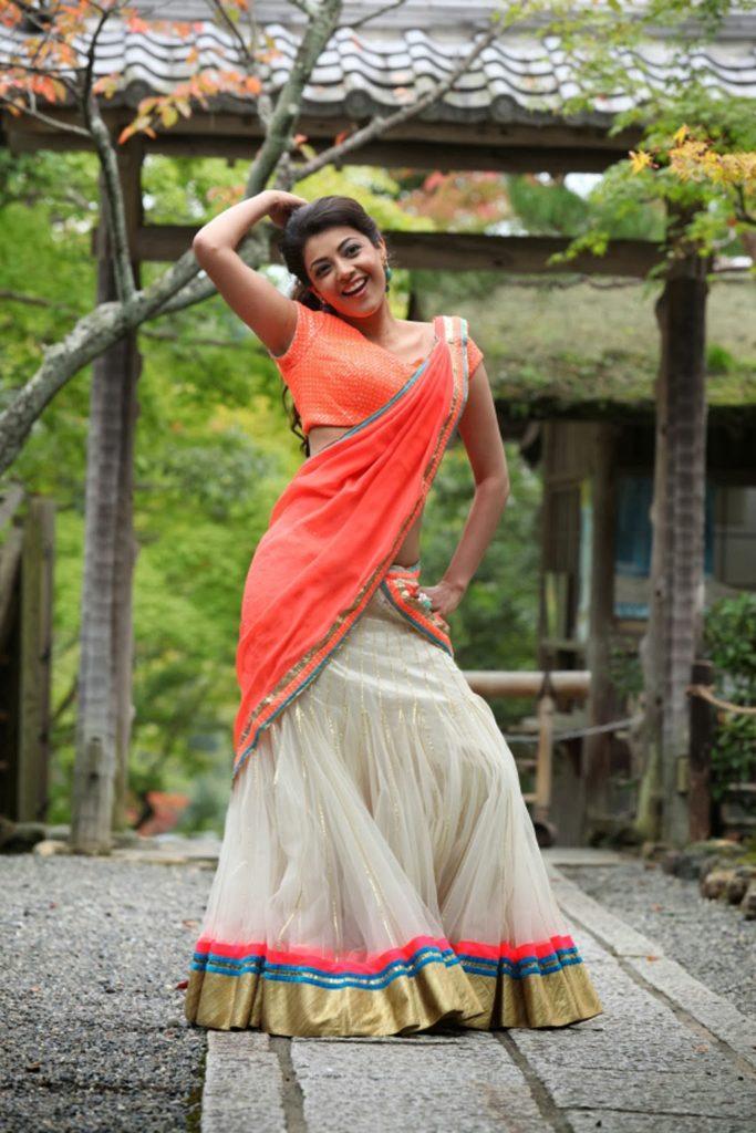 Kajal Aggarwal Hot Look In Gagra Choli Pics