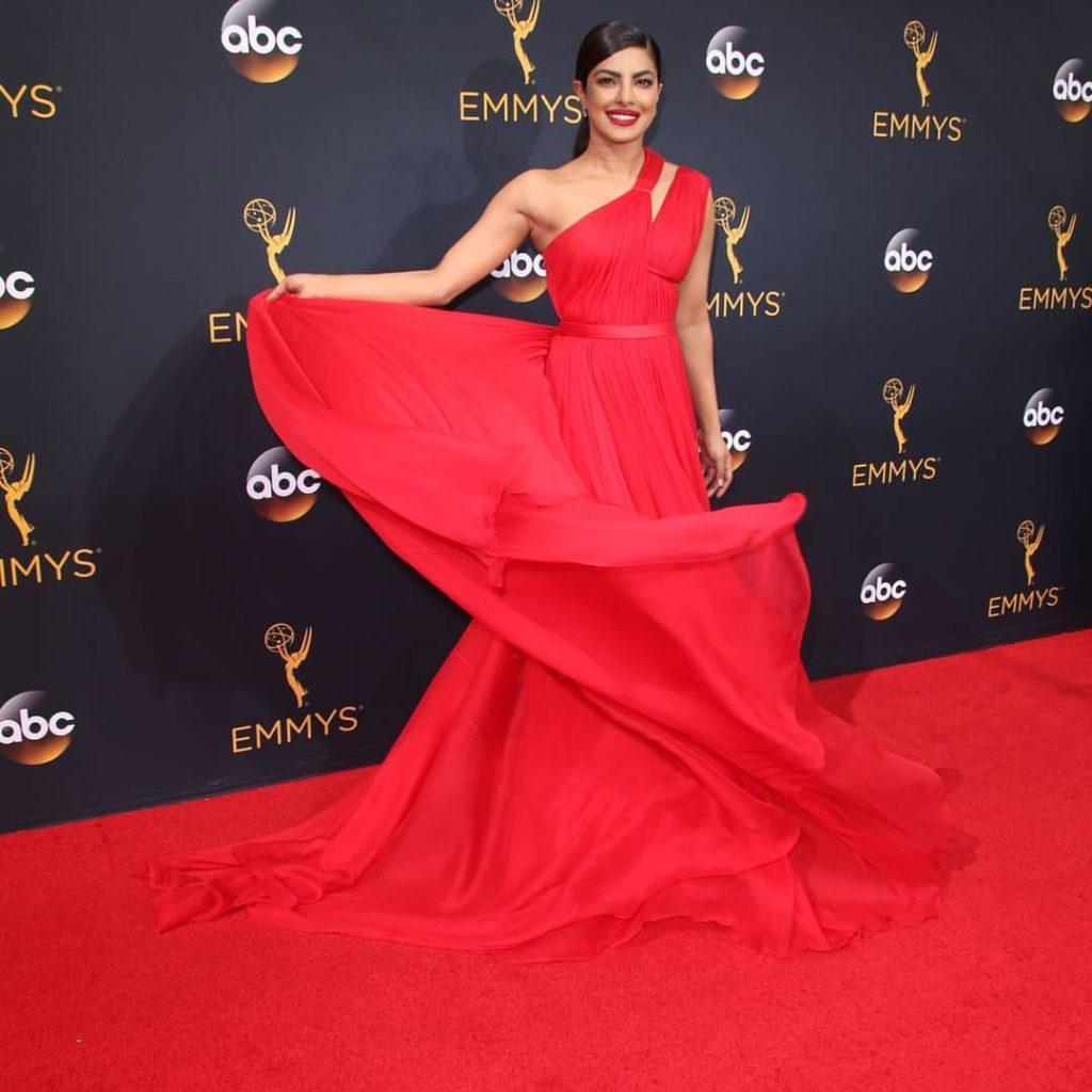 Priyanka Chopra Beautiful Red Dress Images