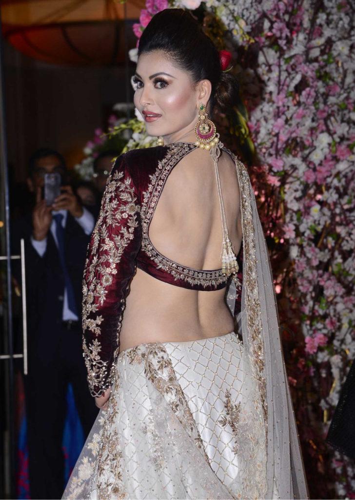 Urvashi Rautela Gagra Choli Backside Photoshoots