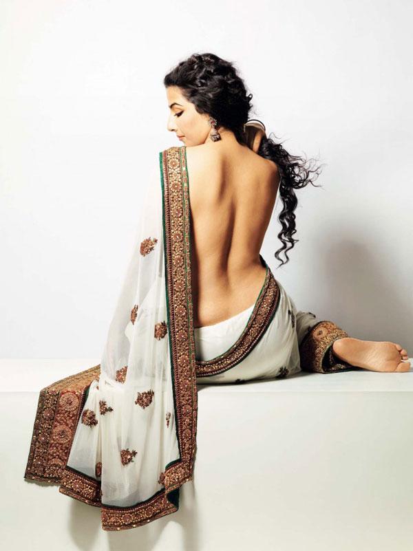 Vidya Balan Backless Wallpapers In Saree