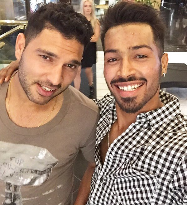 Hardik Pandya Images With Yuvraj