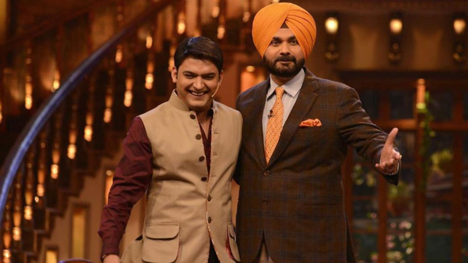 Kapil Sharma Charming Images With Navjot Singh Sidhu