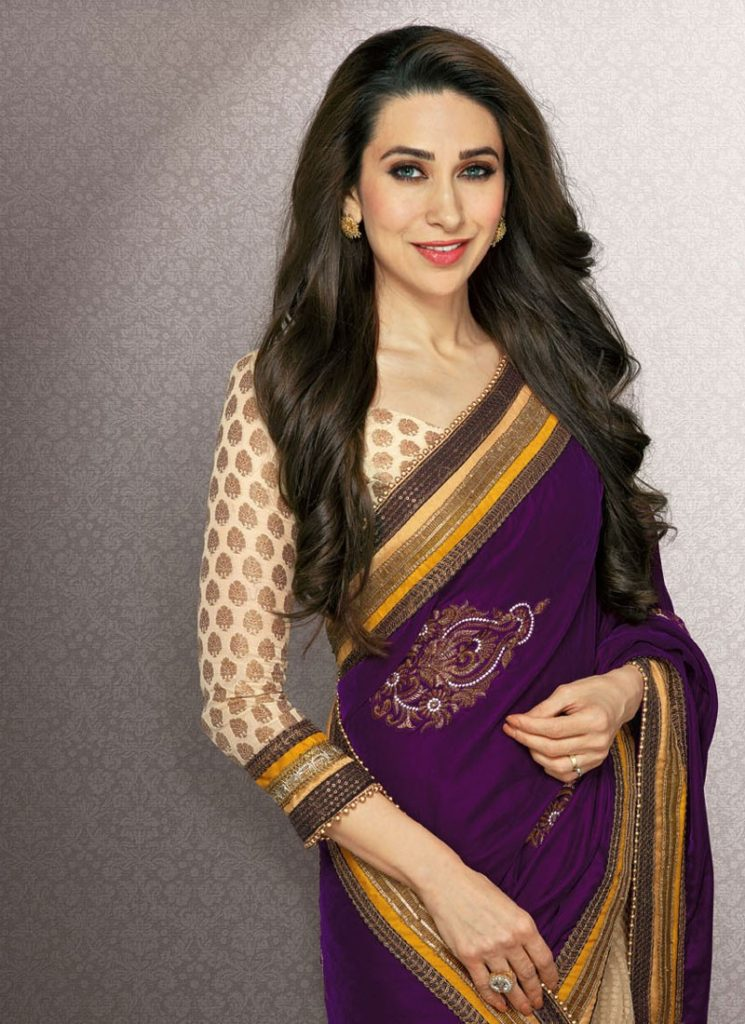 Karisma Kapoor Attractive Pics In Saree