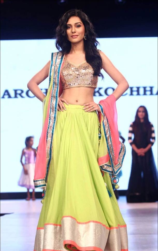 Amrita Rao Cute Images In Lehanga Choli At Rampwalk