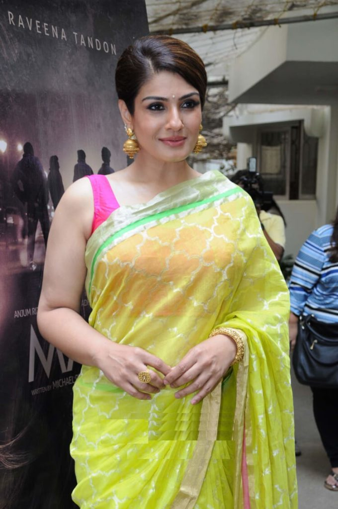 Beautiful Raveena Tandon Sexy Images In Saree