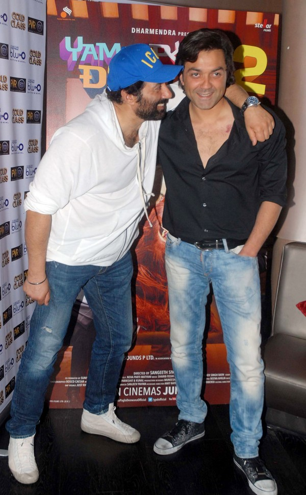 Bobby Deol Photos With Brother Sunny Deol