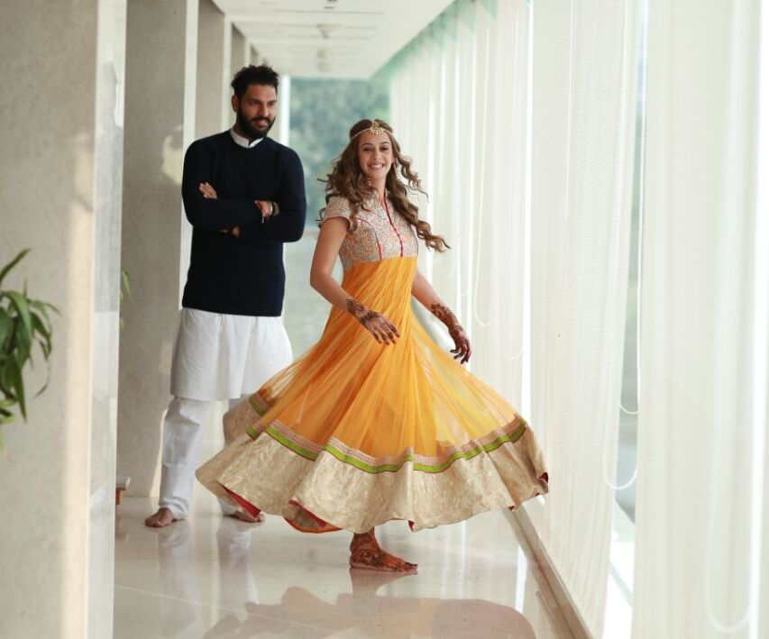 Hazel Keech Lovely Images With His Husband Yuvraj Singh