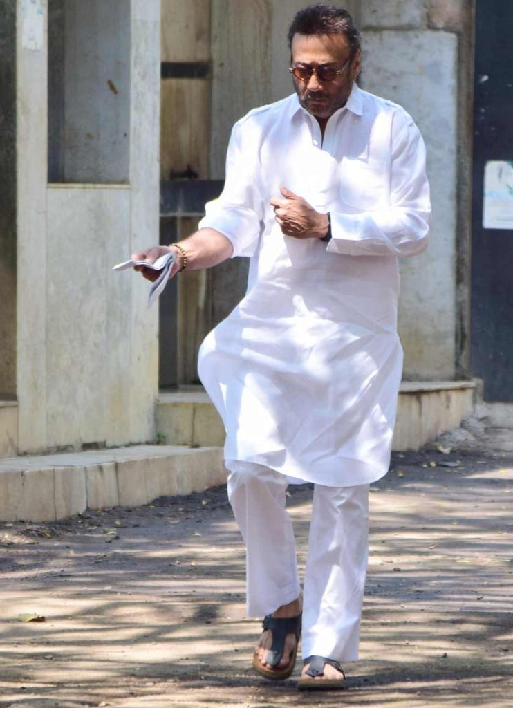 Jackie Shroff Cute Images In White Dress